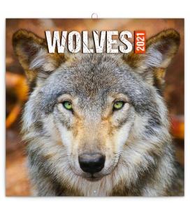 Wall calendar Wolves 2021