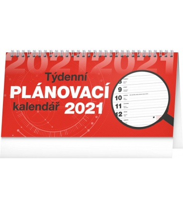 Table calendar Weekly planner lined 2021