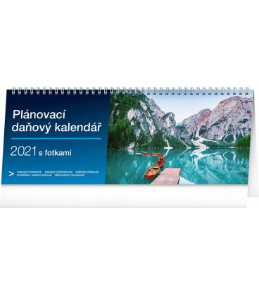 Table calendar Weekly planner with taxes photographic 2021