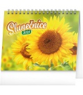 Table calendar Sunflower planner with quotes 2021