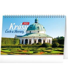 Table calendar Czech and Moravian Beauty 2021