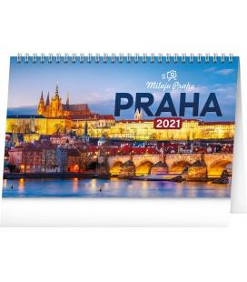 Table calendar I Love Prague 2021