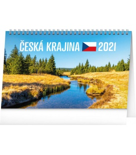 Table calendar Landscape of Czech Republic 2021