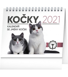 Table calendar Cats – with cat names 2021