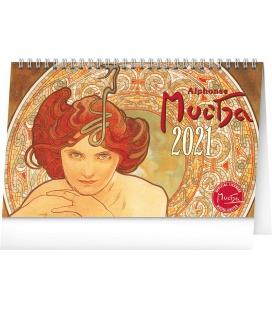 Table calendar Alphonse Mucha 2021