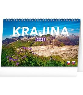 Table calendar Landscapes CZ/SK 2021