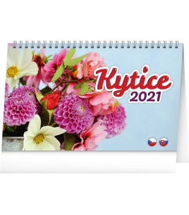 Table calendar Flowers 2021