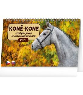 Table calendar Horses 2021
