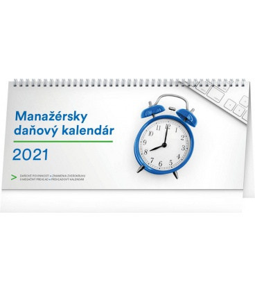 Table calendar Manager's weekly planner with taxes SK 2021