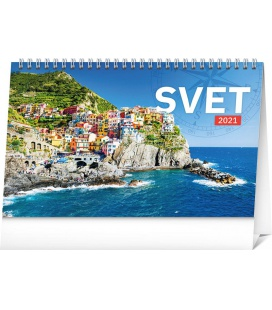 Table calendar The World SK 2021