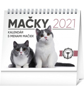 Table calendar Cats – with cat names SK 2021