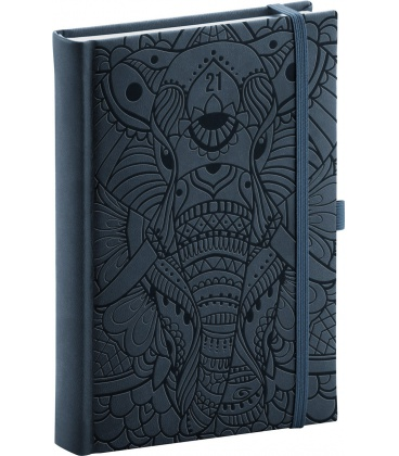 Daily diary A5 Vivella Fun Elephant, black 2021