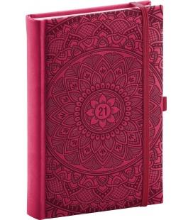 Daily diary A5 Vivella Fun Mandala, red 2021