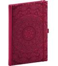 Weekly Diary A5 Vivella Fun Mandala, red 2021