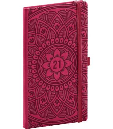 Weekly pocket diary Vivella Fun Mandala, red 2021