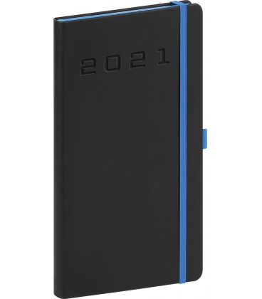 Weekly pocket diary Nox black, blue 2021