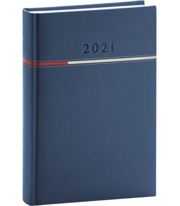 Daily diary A5 Tomy blue, red 2021