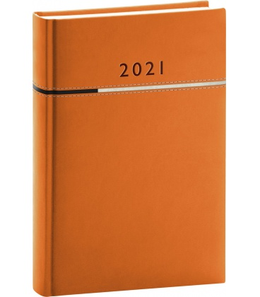 Daily diary A5 Tomy orange, black 2021