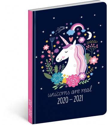 Weekly diary B6 18month Petito diary Unicorn 2020/2021
