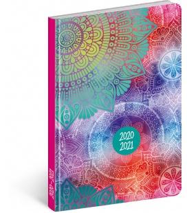 Weekly diary B6 18month Petito diary Mandala 2020/2021
