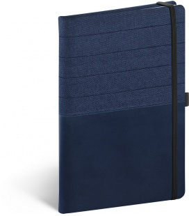 Notebook A5 Skiver, blue, blue, lined 2021