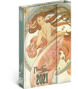 Magnetic weekly diary Alphonse Mucha 2021