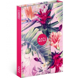 Magnetic weekly diary Tropical Leaves 2021