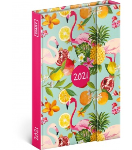 Magnetic weekly diary Flamingos 2021
