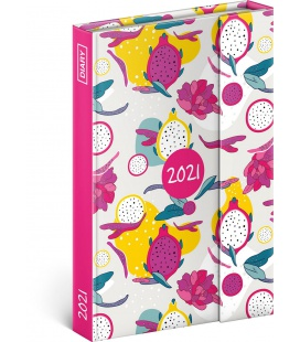 Magnetic weekly diary Dragon Fruit 2021