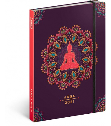 Weekly diary A5 Yoga 2021
