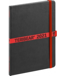 Weekly diary A5 Teribear black 2021