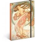 Notebook A5 Alphonse Mucha – Dance, unlined 2021