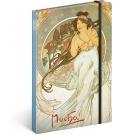 Notebook A5 Alphonse Mucha – Music, unlined 2021