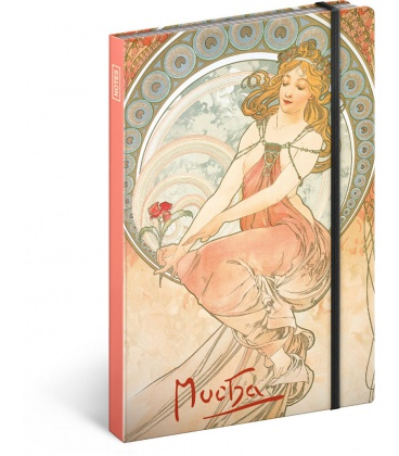 Notebook A5 Alphonse Mucha – Painting, unlined 2021