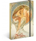 Notebook A5 Alphonse Mucha – Poetry, unlined 2021