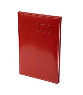 """Weekly Diary B5 """"obšitý"""" koženka red 2021"""