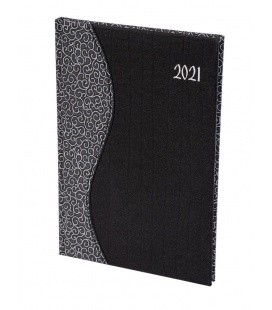 "Weekly Diary B5 ""SIGMA"" Balacron/Balacron black, white 2021"