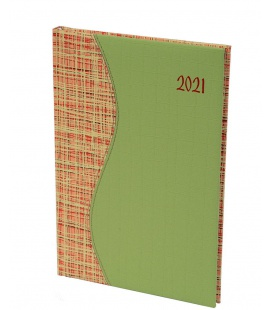 "Weekly Diary B5 ""SIGMA"" Balacron/Balacron green, orange 2021"