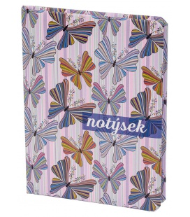 """Notepad - Lined B6 tištěný a laminovaný potah """"Motýli"""" 2021"""
