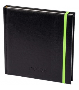 Notepad 4Q with rubber band Memory black, green 2021