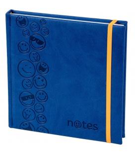 Notepad 4Q with rubber band Vivella/ražba Smajlíci blue, orange 2021