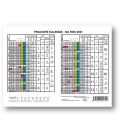 Table calendar Yearly Planing Card   2021