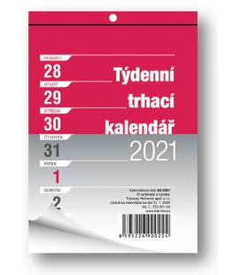 Wall calendar notepad A6 week  2021