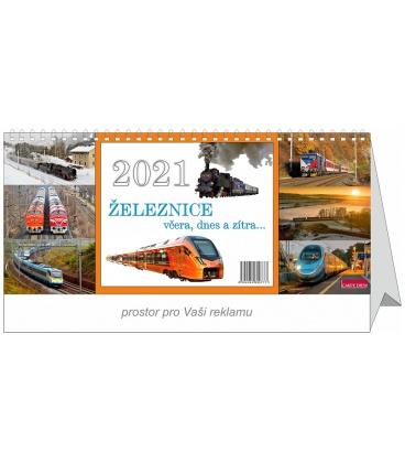 Table calendar Railways yesterday, today and tomorrow 2021