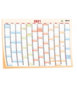 Wall calendar Yearly planing map / Plakát mapový 69 x 47,5 cm 2021