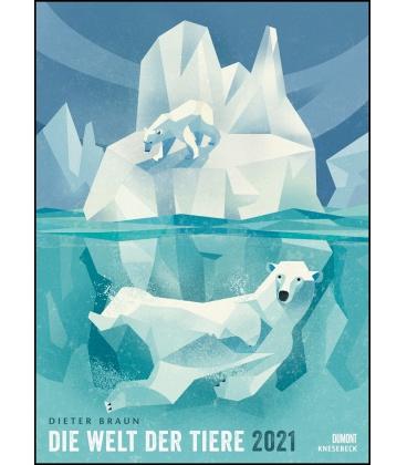 Wall calendar Die Welt der Tiere (Dieter Braun) 2021