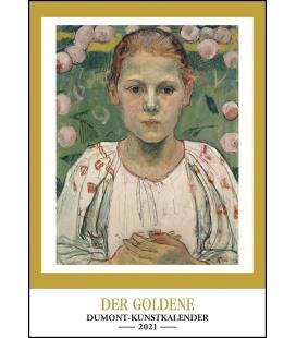 Wall calendar Goldener Kunstkalender 2021