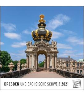 Wall calendar Dresden 2021