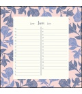 Wall calendar Geburtstagskalender Lovely Flowers 2021