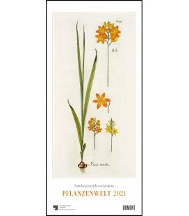 Wall calendar Freiherr von Jacquin: Pflanzenwelt 2021